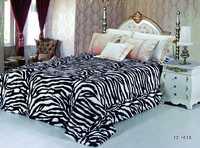 Плед меховой Зебра черно-белая