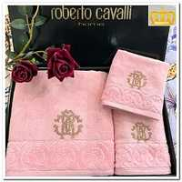 "Набор полотенец Roberto Cavalli - "" Кармен ""  розовый"